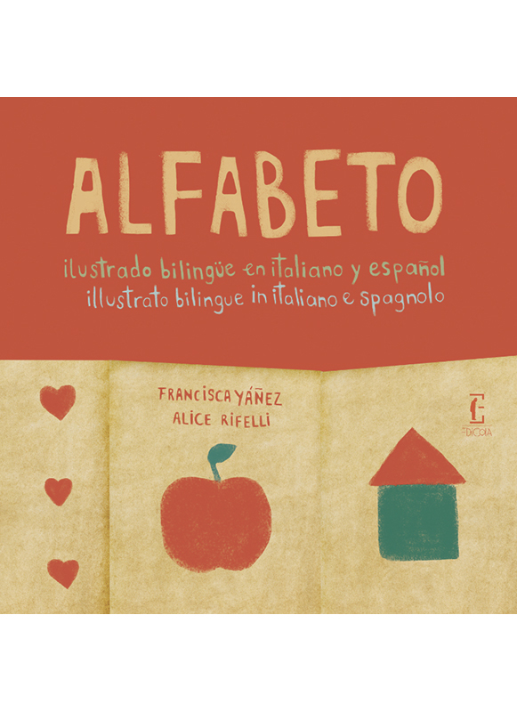 Alfabeto illustrato bilingue in italiano e spagnolo